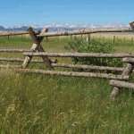 Wasatch Timber log ranch entry gate